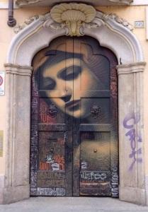 vierge peinte