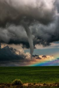 A Tornado in Front of a Rainbow by jasonvanstry